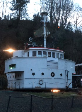 Super cool ferry house!