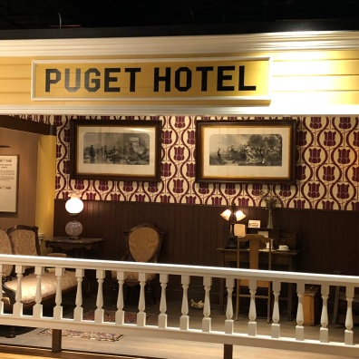 Recreation of the Puget Hotel lobby