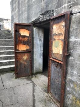 Doors in lower section of bunker