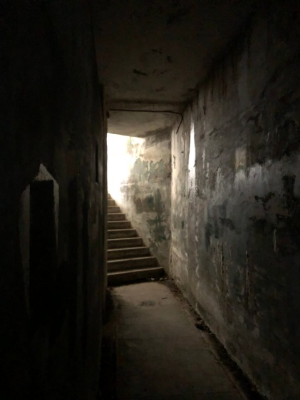 Stairs out of the bunker