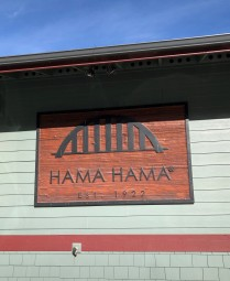 A beautiful sunny day at the Hama Hama Oyster Saloon.